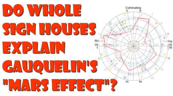 Do Whole Sign Houses Explain Gauquelin's Mars Effect